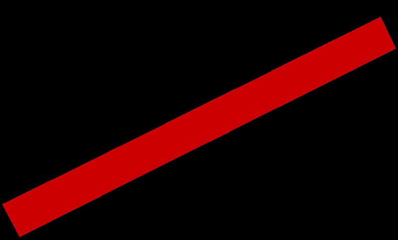 contorno de una ciudad tachada con una línea roja