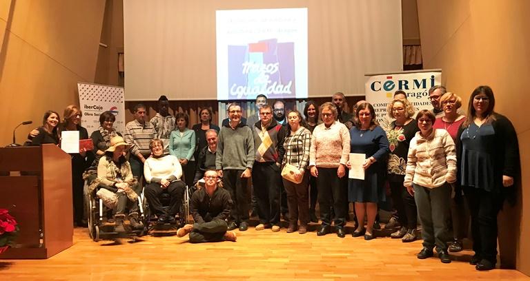 Entregados los premios del VI Concurso de Pintura y Escultura CERMI Aragón 'Trazos de Igualdad'