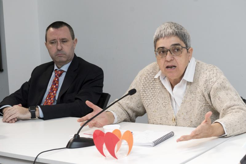 Luis Miguel López Ruiz, secretario general de CERMI Comunidad de Madrid y Fefa Álvarez, asesora de Accesibilidad Universal del CERMI