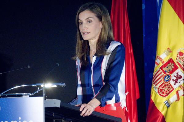 La Reina Letizia en un acto público