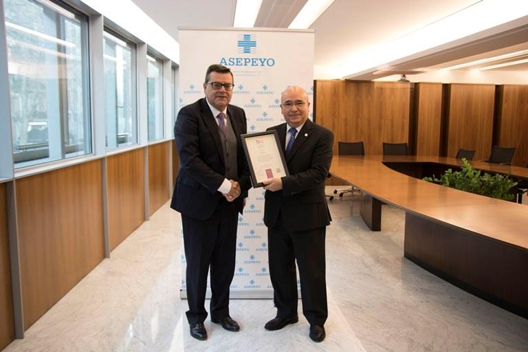 Asepeyo obtiene el Sello Bequal Plus, que certifica su compromiso en la inclusión de las personas con discapacidad