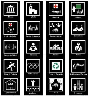 Catálogo de Pictogramas Normalizados que ha elaborado la Comisión de Accesibilidad de CERMI de la Comunidad de Madrid