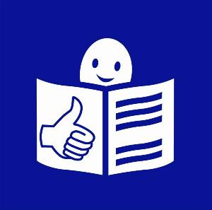 Símbolo de la lectura fácil
