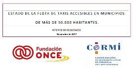 Portada del informe de situación sobre el taxi accesible a 4 de diciembre de 2017