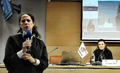 Ana Peláez, vicepresidenta ejecutiva de la FCM, y Almudena Martín