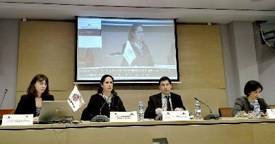 Imagen de la presentación del informe 'Poner fin a las esterilizaciones forzosas de las mujeres y niñas con discapacidad'