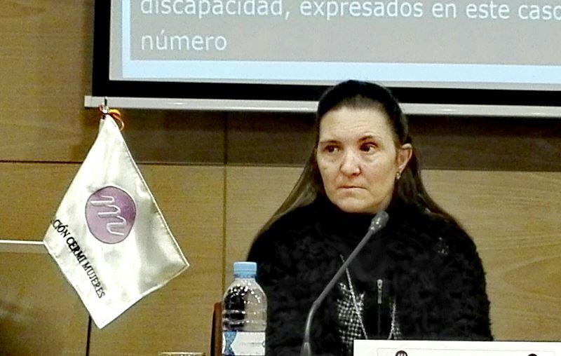Almudena Martín, madre con discapacidad