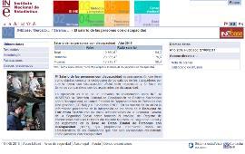 Detalle de la página web del INE