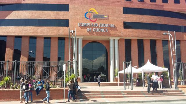 Entrada del complejo judicial de Cuenca (Foto: Fiscalía General del esado)