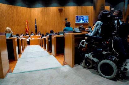 Momento de la I Conferencia Intersectorial de Mujeres con Discapacidad en marzo de 2017