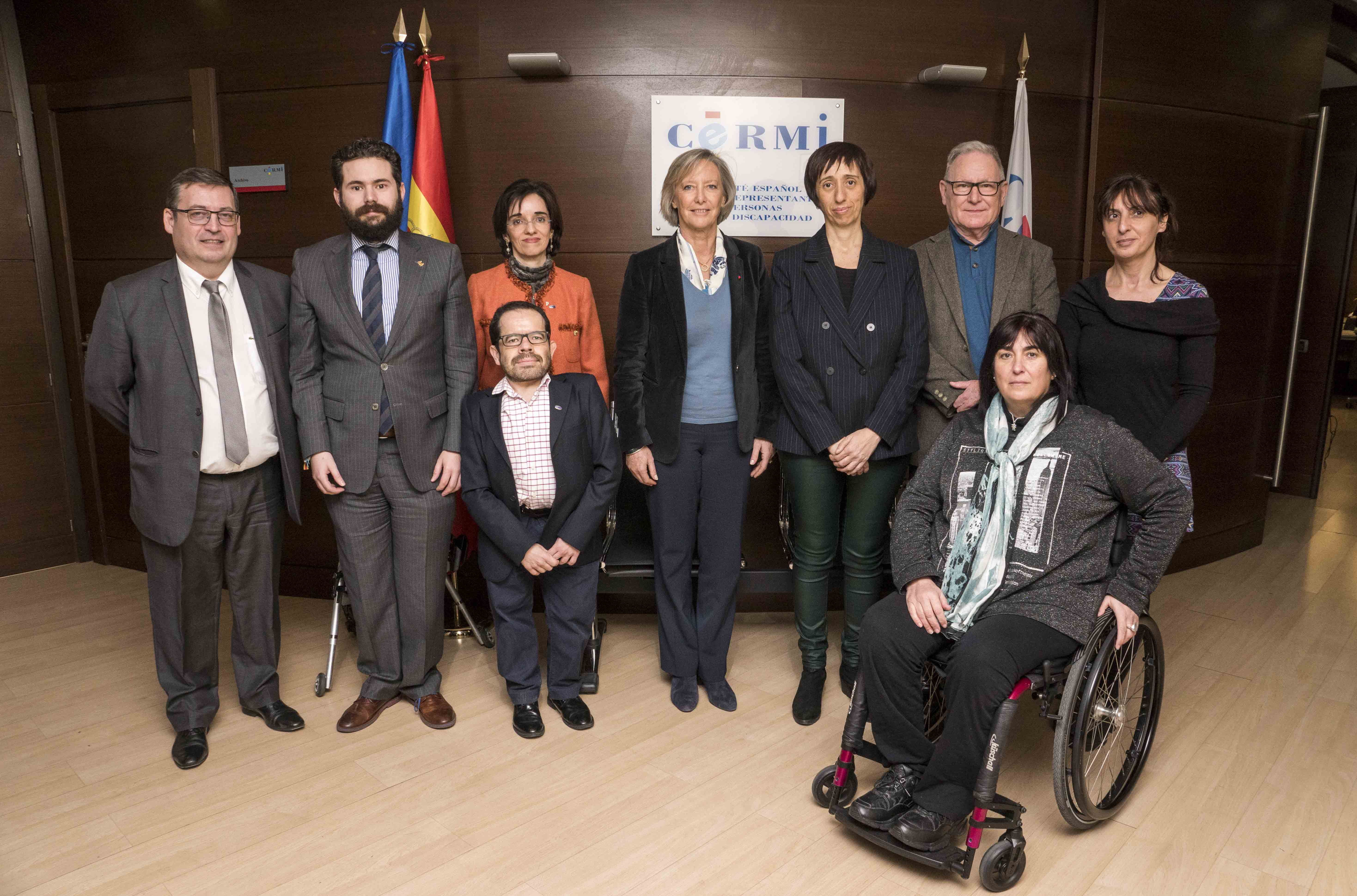 El CERMI repasa con la secretaria de Estado de Discapacidad de Francia la agenda política de las personas con discapacidad y sus familias