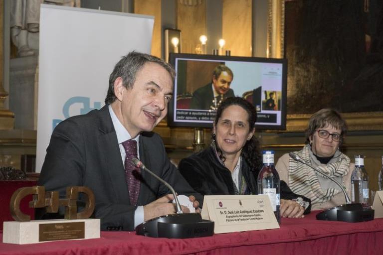 Momento de la intervención de José Luis Rodríguez Zapatero en la II Conferencia Sectorial de Mujeres con Discapacidad