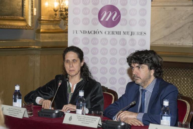 Momento de la intervención de Mario Garcés en la II Conferencia Sectorial de Mujeres con Discapacidad