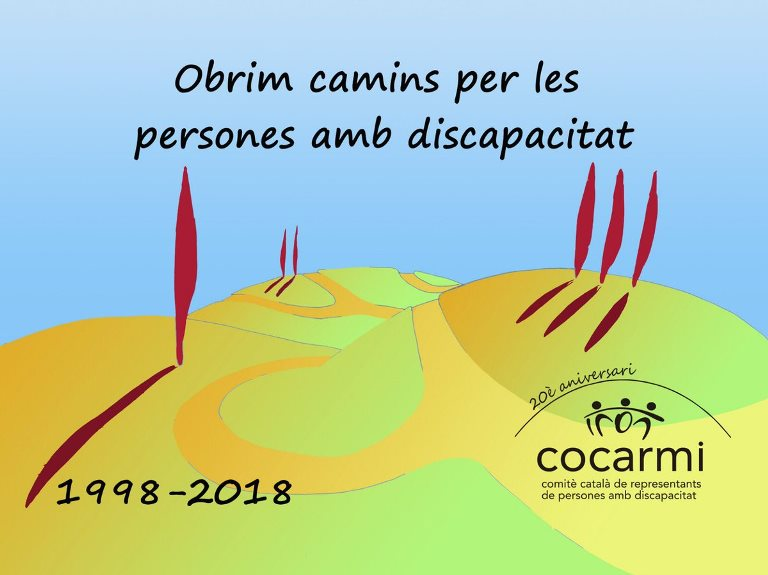 lema elegido para conmemorar 20 años del cocarmi: Abrimos caminos para las personas con discapacidad