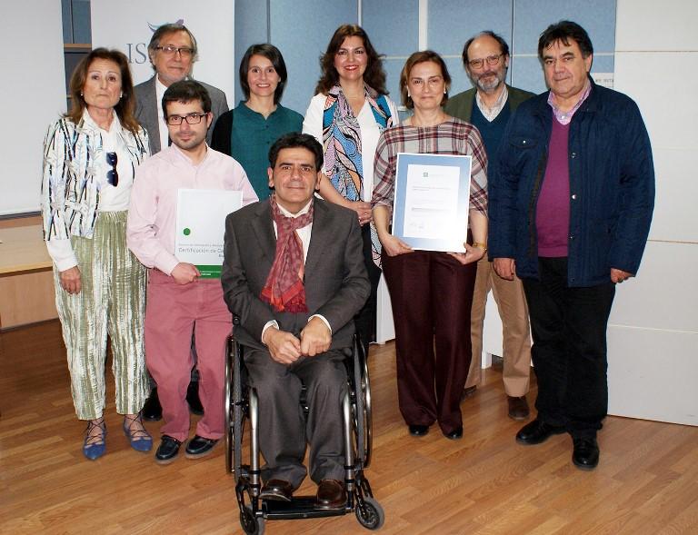 CERMI Andalucía recibe la certificación que otorga la Junta a través de la Agencia de Calidad Sanitaria de Andalucía para los Servicios de Información y Asesoramiento