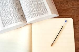 Libro de trabajo y cuaderno para anotar