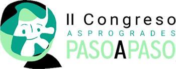Logo del II Congreso Asprogrades PASOAPASO