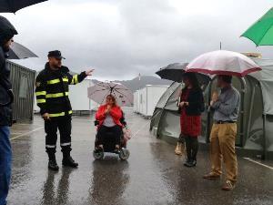 La sede del CERMI RM y la ONCE, escenario de un simulacro de la UME para rescatar a personas con discapacidad