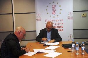 CERMI Comunidad Valenciana y la Federación Valenciana de Municipios y Provincias firman un convenio marco de colaboración