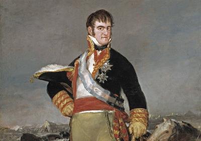 Imagen de Fernando VII en el cuadro de Goya