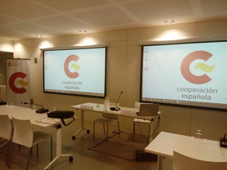 Imagen del centro de formación de AECID en Uruguay antes del curso que imparte Fundación CERMI Mujeres sobre derechos humanos, género y discapacidad