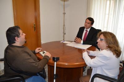 El presidente de la FEMPEX recibe a representantes de CERMI Extremadura