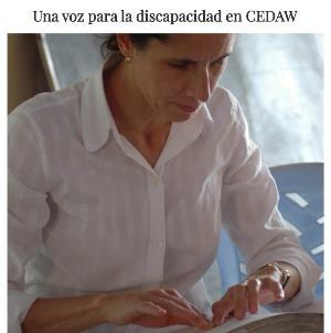 Imagen de la web de la candidatura de Ana Peláez al Comité de la Cedaw