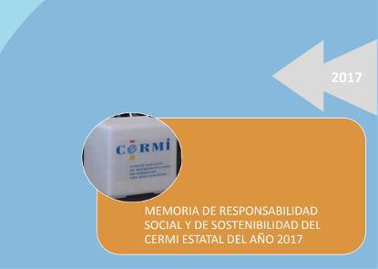 Imagen de la portada de la Memoria de RSE del CERMI 2017