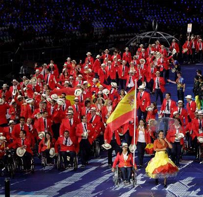 Desfile inaugural del equipo paralímpico español