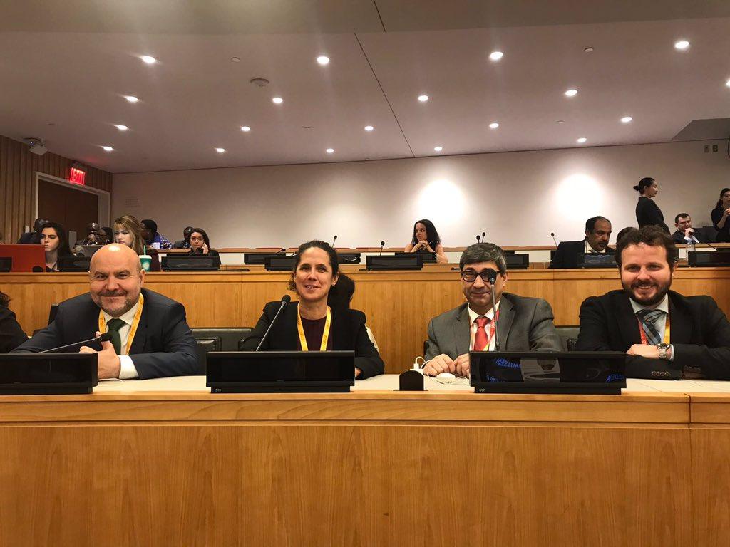 Ana Peláez en la ONU durante las elecciones para la Cedaw
