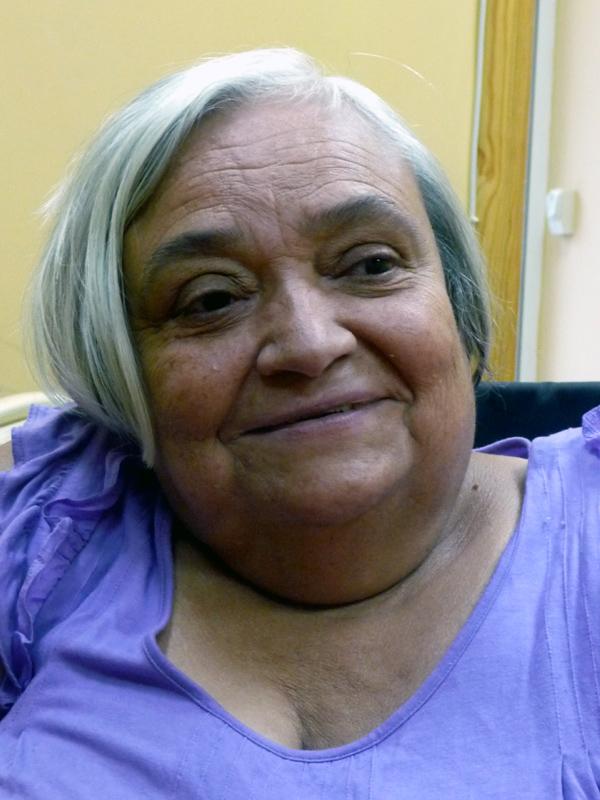 Pilar Ramiro, miembro de la Comisión de la Mujer del CERMI y Presidenta de COAMIFICOA