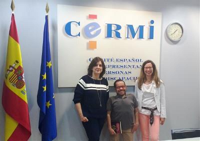 Delegación del CERMI tras un encuentro con representantes de los partidos políticos para tratar el informe de la ONU sobre educación inclusiva