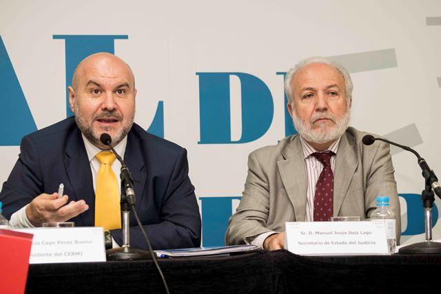 El presidente del CERMI con Manuel Jesus Doltz