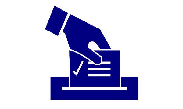 Icono en el que una mano deposita un voto dentro de una urna