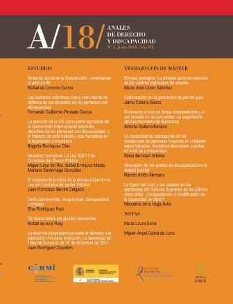 III volumen de los Anales de Derecho y Discapacidad