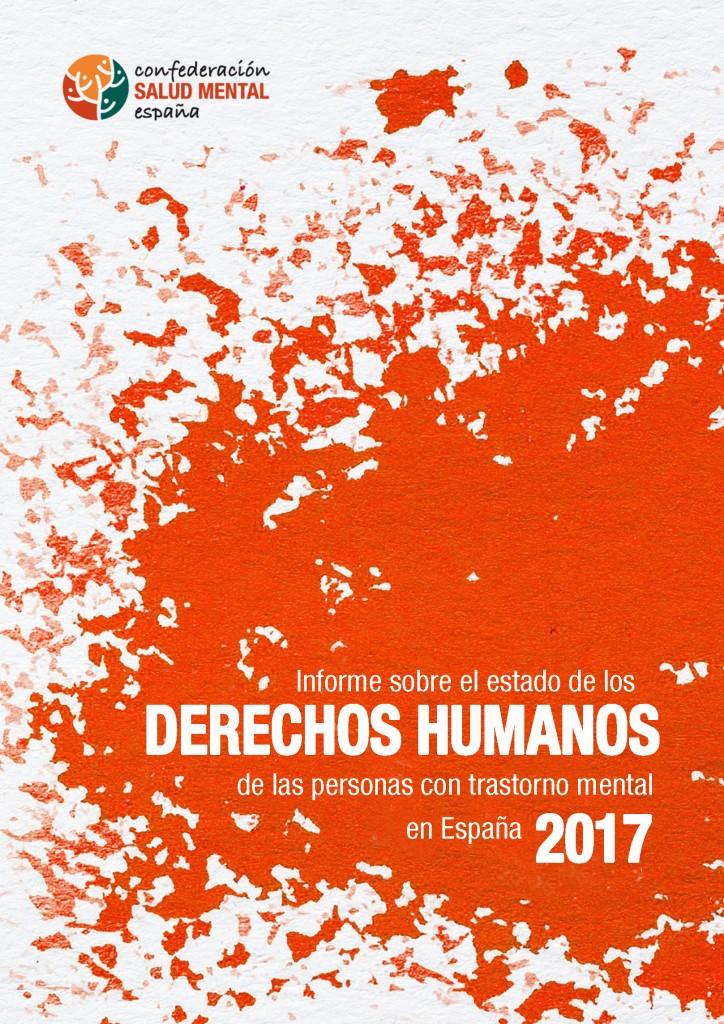 Portada del Informe sobre el estado de los derechos humanos de las personas con trastorno mental en España 2017