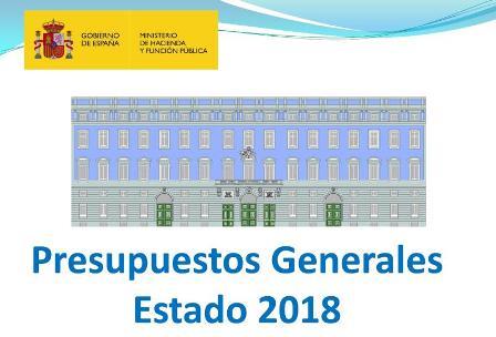 Presupuestos generales del Estado 2018