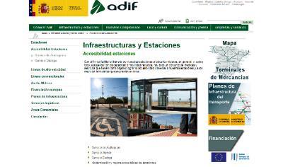 Imagen de la web de Adif