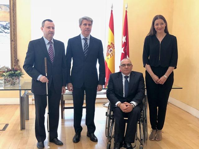 CERMI Madrid se reúne con el presidente de la Comunidad de Madrid para abordar las prioridades de las personas con discapacidad y sus familias