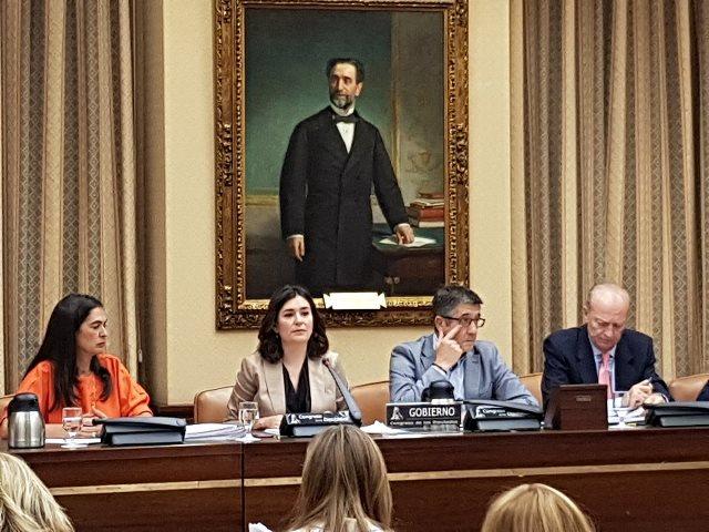 Carmen Montón, ministra de Sanidad, Consumo y Bienestar Social, expone las principales líneas de trabajo en el Congreso de los Diputados