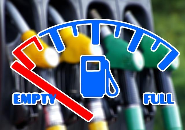 Señal que indica que el depósito de gasolina está vacío