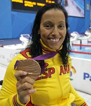 Teresa Perales, nadadora, alcanzó seis medallas