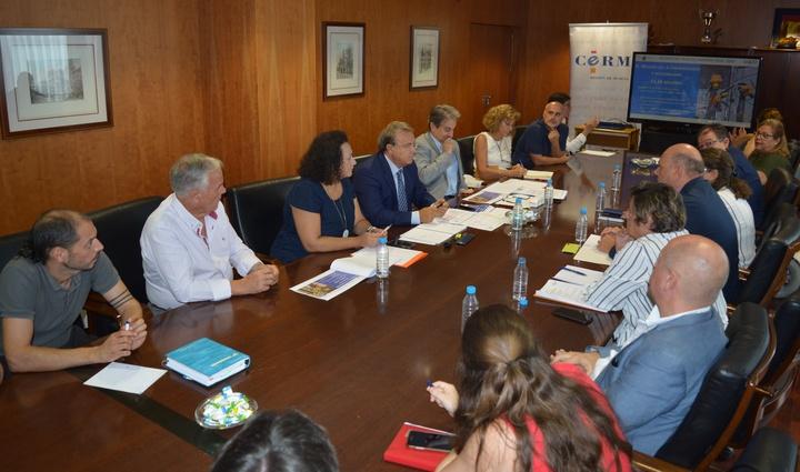 Reunión del CERMI Murcia con Valverde.