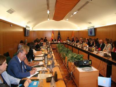 Imagen de la reunión en el Ministerio del Interior.