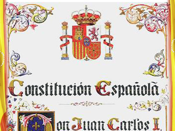 Portada de la Constitución Española.