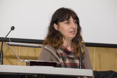 Isabel Caballero, durante su intervención en la Jornada.