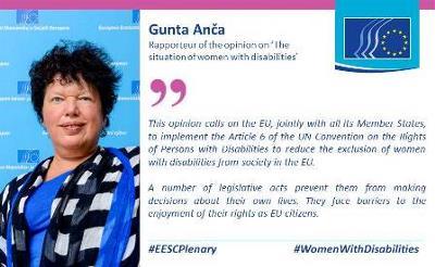 Gunta Anča, secretaria general del Foro Europeo de la Discapacidad