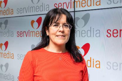 Maria Saturnina Torre, en la entrevista en Servimedia.