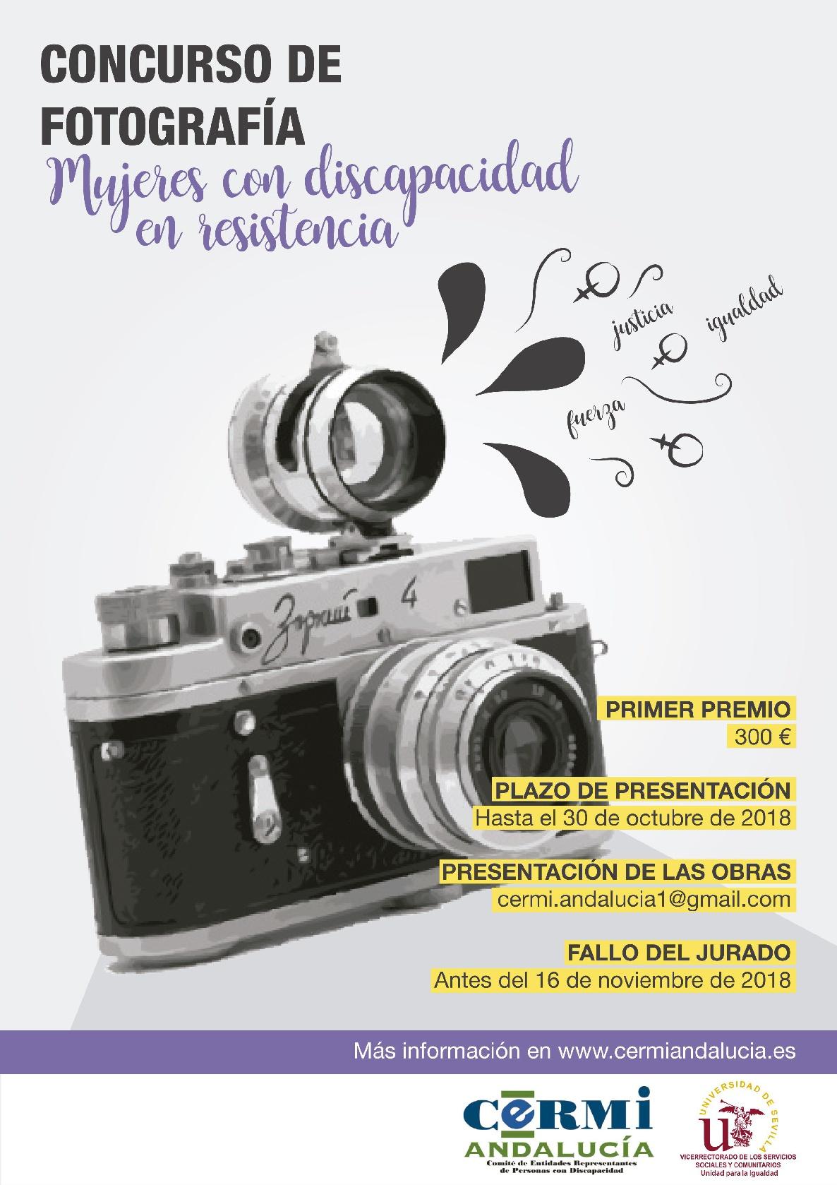 Cartel del concurso de fotografía de CERMI Andalucía.