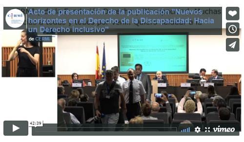"""Acto de presentación de la publicación """"Nuevos horizontes en el Derecho de la Discapacidad: Hacia un Derecho inclusivo"""